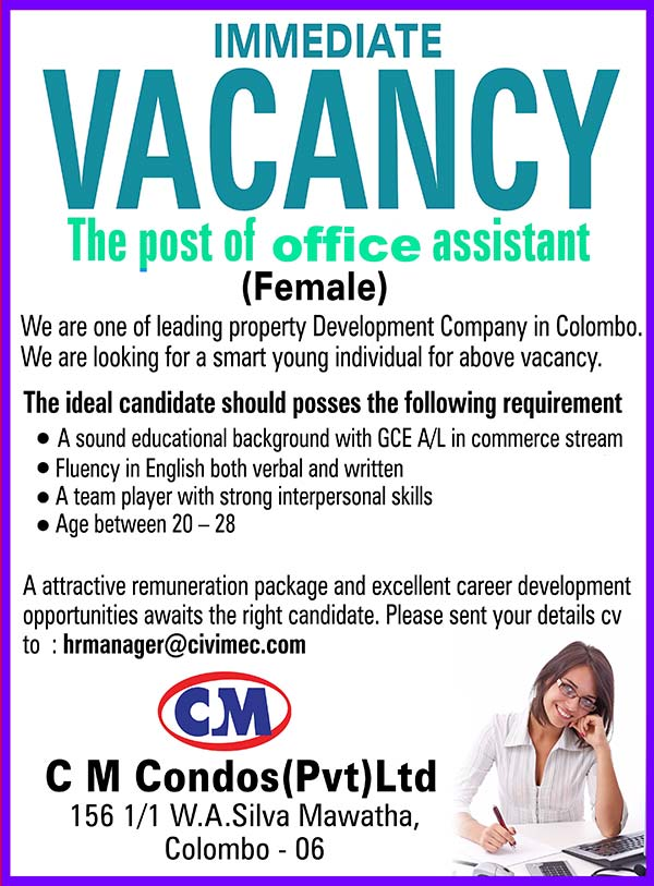 Vacancy - Office Assistant